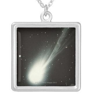 Halleys Comet Square Pendant Necklace