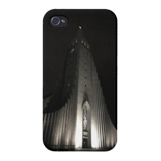 Hallgrimskirkja church at night iPhone 4 case
