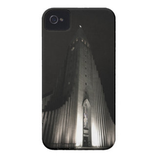 Hallgrimskirkja church at night iPhone 4 Case-Mate cases