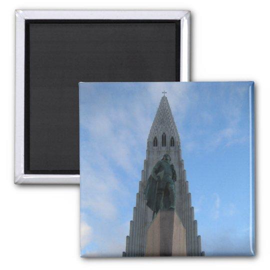 Hallgrímskirkja, Reykjavik, Iceland Square Magnet