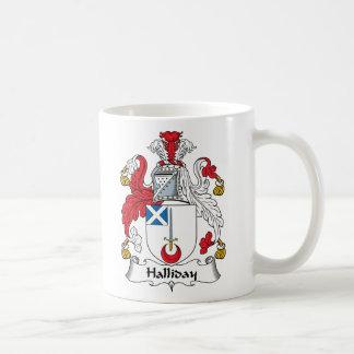 Halliday Family Crest Basic White Mug