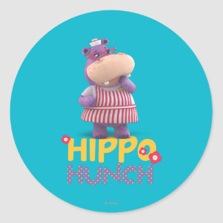 Hallie - Hippo Hunch Classic Round Sticker