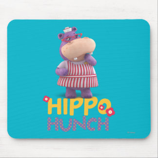 Hallie - Hippo Hunch Mouse Mat