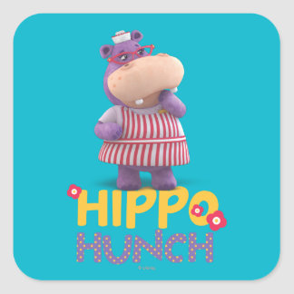 Hallie - Hippo Hunch Square Sticker