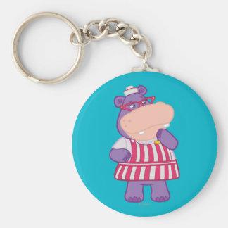 Hallie the Happy Hippo Key Ring