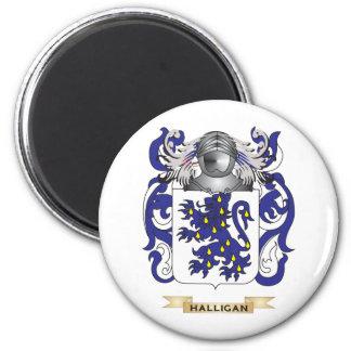 Halligan Coat of Arms (Family Crest) 6 Cm Round Magnet
