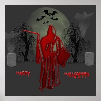 Hallloween Grim Reaper Poster
