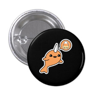 Hallloween Narwhal 3 Cm Round Badge
