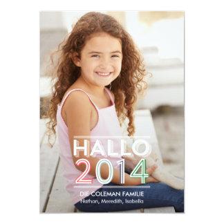 Hallo 2014 neues Jahr fotokarten 13 Cm X 18 Cm Invitation Card