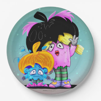 HALLOCOURGETTE MONSTER PAPER PLATE 9 inches