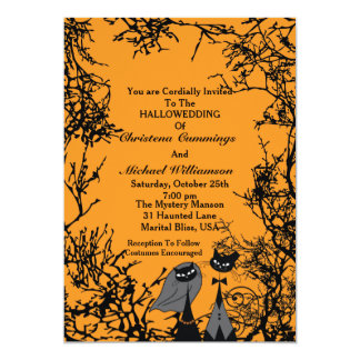 Hallowedding Cats Wedding Invitation