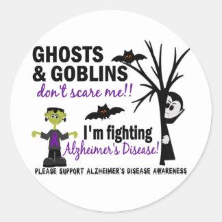 Halloween 1 Alzheimer's Disease Warrior Stickers