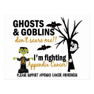 Halloween 1 Appendix Cancer Warrior Postcard