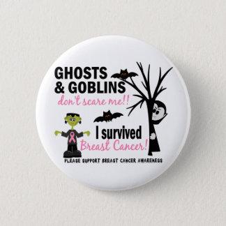 Halloween 1 Breast Cancer Survivor 6 Cm Round Badge