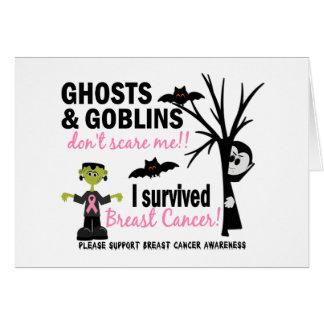 Halloween 1 Breast Cancer Survivor Greeting Card