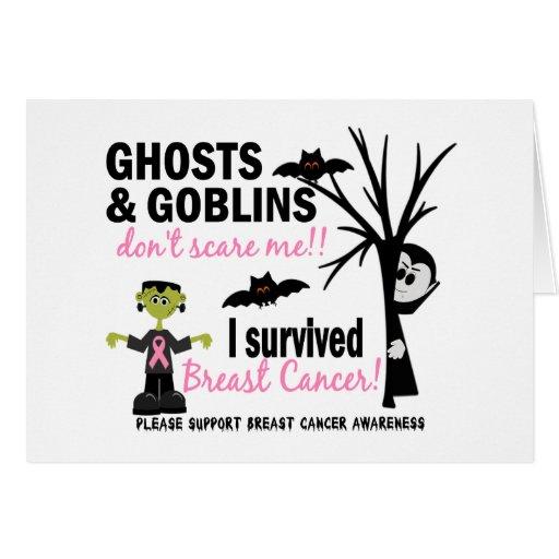 Halloween 1 Breast Cancer Survivor Greeting Cards