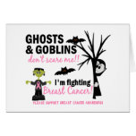 Halloween 1 Breast Cancer Warrior Greeting Card