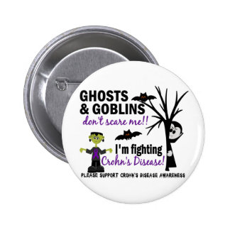 Halloween 1 Crohn's Disease Warrior 6 Cm Round Badge