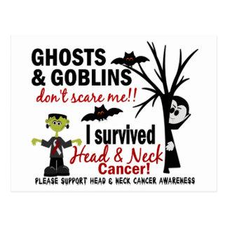Halloween 1 Head And Neck Cancer Survivor Postcard