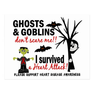 Halloween 1 Heart Disease Survivor Postcard
