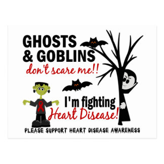 Halloween 1 Heart Disease Warrior Postcard