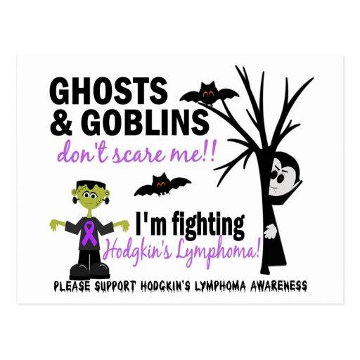 Halloween 1 Hodgkin's Lymphoma Warrior Post Card