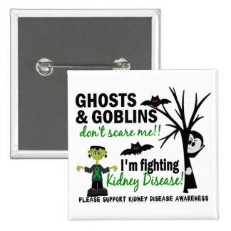 Halloween 1 Kidney Disease Warrior 15 Cm Square Badge