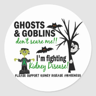 Halloween 1 Kidney Disease Warrior Classic Round Sticker