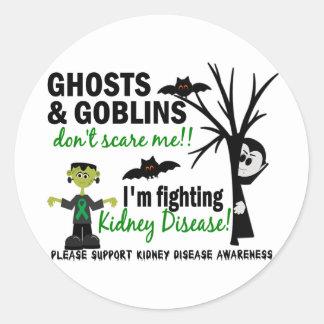 Halloween 1 Kidney Disease Warrior Round Sticker