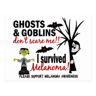 Halloween 1 Melanoma Survivor Post Cards