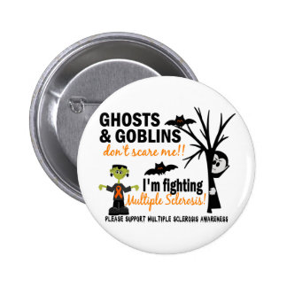 Halloween 1 Multiple Sclerosis Warrior 6 Cm Round Badge