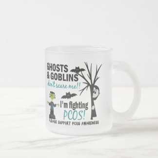 Halloween 1 PCOS Warrior Frosted Glass Mug