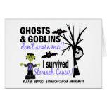 Halloween 1 Stomach Cancer Survivor Greeting Card