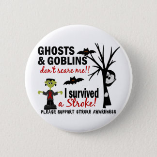 Halloween 1 Stroke Survivor 6 Cm Round Badge