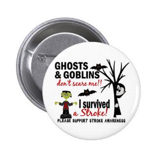 Halloween 1 Stroke Survivor 6 Cm Round Badge