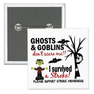 Halloween 1 Stroke Survivor Buttons