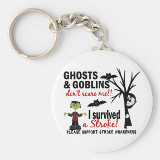 Halloween 1 Stroke Survivor Key Chain