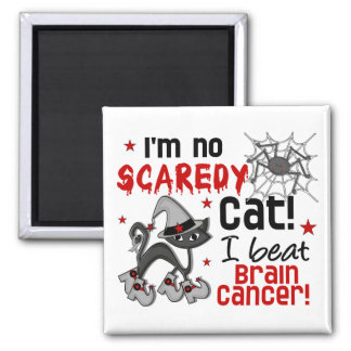 Halloween 2 Brain Cancer Survivor Square Magnet