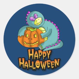 halloween 2, dino and pumkin sticker