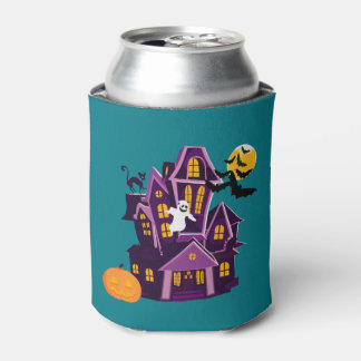 Halloween A haunted house! Spooky fun! Can Cooler