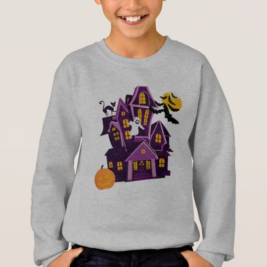 Halloween A haunted house! Spooky fun! Sweatshirt