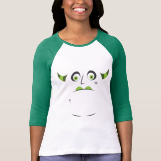 Halloween Adorable Green Horned Monster T-Shirt