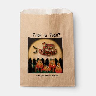 Halloween Adorable Pumpkins Favour Bags