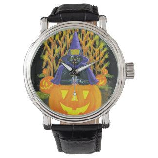 Halloween, adult,watch,black,cat,mouse,cornfield watch