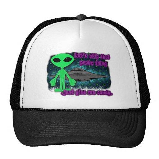 halloween alien trucker hats