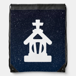Halloween Altars Symbol Drawstring Bags