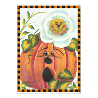 """Halloween and Autumn Gifts 5"""" X 7"""" Invitation Card"""