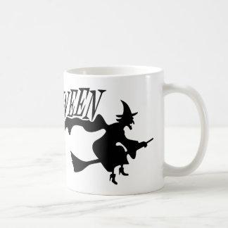 Halloween and Witch Basic White Mug