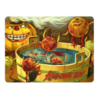 Halloween Apple Bobbing 17 Cm X 22 Cm Invitation Card