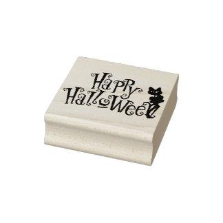 Halloween Art Stamps/Happy Halloween Black Cat Rubber Stamp